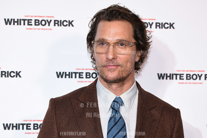 LONDON, UK. November 27, 2018: Matthew McConaughey at the &quot;White Boy Rick&quot; screening at the Picturehouse Central, London.<br /> Picture: Steve Vas/Featureflash