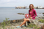 """Trudy Brown (Real Triathlon) from Belfast who won Ladies 1st place at the 2.5km """"Round the Head Swim""""  in Clogherhead, Co.Louth.....(Photo credit should read Jenny Matthews/NEWSFILE)....This Picture has been sent you under the condtions enclosed by:.Newsfile Ltd..The Studio,.Millmount Abbey,.Drogheda,.Co Meath..Ireland..Tel: +353(0)41-9871240.Fax: +353(0)41-9871260.GSM: +353(0)86-2500958.email: pictures@newsfile.ie.www.newsfile.ie.FTP: 193.120.102.198."""