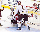 Parker Milner (BC - 35), Sahir Gill (BU - 28), Patrick Wey (BC - 6) - The Boston College Eagles defeated the visiting Boston University Terriers 5-2 on Saturday, December 1, 2012, at Kelley Rink in Conte Forum in Chestnut Hill, Massachusetts.