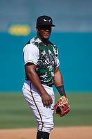 Lake Elsinore Storm third baseman Eguy Rosario (1) during a California League game against the Inland Empire 66ers on April 14, 2019 at The Diamond in Lake Elsinore, California. Lake Elsinore defeated Inland Empire 5-3. (Zachary Lucy/Four Seam Images)