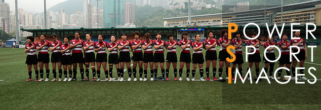 Hong Kong ladies play Japan in their Asia 5 Nations tournament match held at the Hong Kong Football Club on 30 April 2011.  Photo © Tyrone Siu / HKRFU