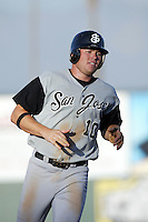 June 24 2007: Ben Copeland of the San Jose Giants runs the bases against the Inland Empire 66'ers at Arrowhead Credit Union Park in San Bernardino,CA.  Photo by Larry Goren/Four Seam Images