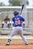 New York Mets catcher Colton Plaia (28) during a minor league spring training game against the Miami Marlins on March 28, 2014 at Roger Dean Stadium in Jupiter, Florida.  (Mike Janes/Four Seam Images)
