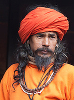 Pashupatinath, Nepal.  Sadhu (Holy Man) at Nepal's Holiest Hindu Temple.