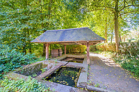 BNPS.co.uk (01202 558833)<br /> Pic: LeggettPrestige/BNPS<br /> <br /> PICTURED: The property has the stunning gardens, which feature a hectare of woodland.<br /> <br /> A luxurious French chateau in a village liberated by the celebrated US general George Patton in World War Two has gone on the market for £1.35million.<br /> <br /> A stunning 19th century French chateau has emerged on the market for £1.35million - the same price as a terraced house in London.<br /> <br /> The Normandy property, located on the edge of the Bay of Mont Saint Michel, has 10 bedroom suites and is set in 14 hectares of manicured parkland.<br /> <br /> It also has equestrian facilities including 12 stables, as well as paddocks, a barn and a cottage.