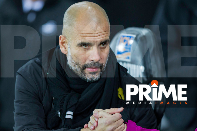 Manchester City manager Pep Guardiola ahead of the EPL - Premier League match between Swansea City and Manchester City at the Liberty Stadium, Swansea, Wales on 13 December 2017. Photo by Mark  Hawkins / PRiME Media Images.
