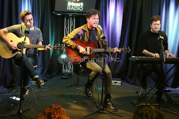 BALA CYNWYD, PA -NOVEMBER 7 : Arkells visit Radio 104.5 performance studio in Bala Cynwyd, Pa on November 7, 2018 Credit: Star Shooter/MediaPunch