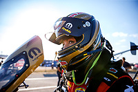 Oct 13, 2017; Ennis, TX, USA; NHRA top fuel driver Leah Pritchett during qualifying for the Fall Nationals at the Texas Motorplex. Mandatory Credit: Mark J. Rebilas-USA TODAY Sports