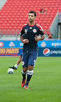 August 21 2010 New York Red Bulls defender/midfielder Rafael Marquez #4 warms up during a game between the New York Red Bulls and Toronto FC at BMO Field in Toronto..The New York Red Bulls won 4-1.