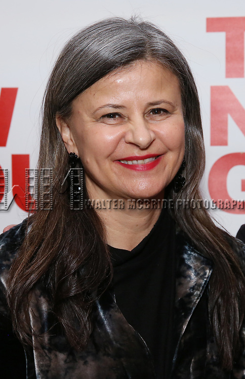 """Tracey Ullman attends the Off-Broadway Opening Night Premiere of  """"Jerry Springer-The Opera"""" on February 22, 2018 at the Green Fig Urban Eatery in New York City."""