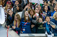 HARRISON, NJ - MARCH 08: Fans cheer during a game between Spain and USWNT at Red Bull Arena on March 08, 2020 in Harrison, New Jersey.