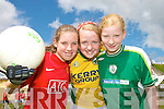 ON THE BALL: Pupils at Lough Guittane National School  who took part in the Kerry Primary Schools Girls Skills Finals in Fitzgerald Stadium Killarney on Friday last..L/r. Karol Fleming, Kathleen Horan and Linda Bruggener.   Copyright Kerry's Eye 2008