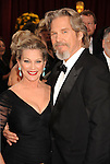 HOLLYWOOD, CA. - March 07: Actor Jeff Bridges (R) and wife Susan Geston arrives at the 82nd Annual Academy Awards held at the Kodak Theatre on March 7, 2010 in Hollywood, California.