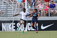 Cary, North Carolina  - Saturday July 01, 2017: Mandy Freeman and Debinha during a regular season National Women's Soccer League (NWSL) match between the North Carolina Courage and the Sky Blue FC at Sahlen's Stadium at WakeMed Soccer Park.