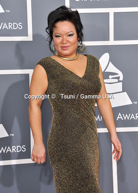 Angelin Chang _601 at  the 55th Ann. Grammy Awards 2013 at the Staples Center in Los Angeles.