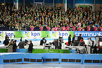 SCHAATSEN: HEERENVEEN: 28-12-2016, KPN NK AFSTANDEN, huldiging, ©foto Martin de Jong