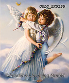 CHILDREN, KINDER, NIÑOS, paintings+++++,USLGSK0150,#K#, EVERYDAY ,Sandra Kock, victorian ,angels