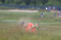 Harry Ellis (AM)(ENG) plays his 2nd shot from a fairway bunker on the 8th hole during Friday's Round 2 of the 118th U.S. Open Championship 2018, held at Shinnecock Hills Club, Southampton, New Jersey, USA. 15th June 2018.<br /> Picture: Eoin Clarke | Golffile<br /> <br /> <br /> All photos usage must carry mandatory copyright credit (&copy; Golffile | Eoin Clarke)