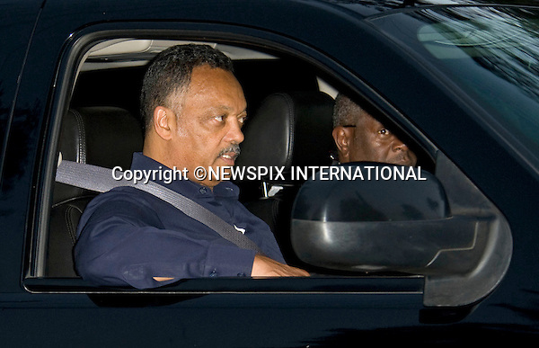 """REV JESSE JACKSON.arrives at the  Jackson Family Home in Encino.Jesse Jackson has been helping the Jackson family with the arrangements for the Michael Jackson farewell, Los Angeles_03/07/2009.Mandatory Photo Credit: ©Dias/Newspix International..**ALL FEES PAYABLE TO: """"NEWSPIX INTERNATIONAL""""**..PHOTO CREDIT MANDATORY!!: NEWSPIX INTERNATIONAL(Failure to credit will incur a surcharge of 100% of reproduction fees)..IMMEDIATE CONFIRMATION OF USAGE REQUIRED:.Newspix International, 31 Chinnery Hill, Bishop's Stortford, ENGLAND CM23 3PS.Tel:+441279 324672  ; Fax: +441279656877.Mobile:  0777568 1153.e-mail: info@newspixinternational.co.uk"""