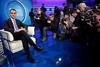 Luigi Di Maio <br /> Roma 09/01/2018. Trasmissione tv Rai 'Porta a Porta'.<br /> Rome January 9th 2018. Talk show 'Porta a Porta'.<br /> Foto Samantha Zucchi Insidefoto