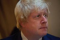 OCTOBER 15, 2015 -TOKYO, JAPAN:  London Mayor, Boris Johnson, at an event at the British Embassy in Tokyo, to encourage collaboration between London and Japan in financial technology.  (Photo / Ko Sasaki  )
