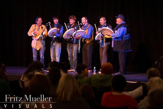 Adaka Cultural Festival 2016, Whitehorse, Yukon, Canada, Yukon First Nation Culture and Tourism Association, Kwanlin Dun Cultural Centre, Ross River Dena drummers