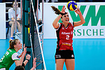 04.02.2018, Halle Berg Fidel, Muenster<br />Volleyball, Bundesliga Frauen, Normalrunde, USC MŸnster / Muenster vs. MTV Allianz Stuttgart<br /><br />Zuspiel Femke Stoltenborg (#2 Stuttgart)<br /><br />  Foto &copy; nordphoto / Kurth