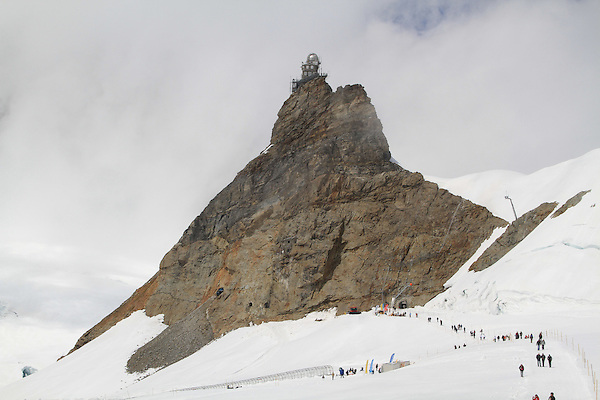 Summit house above Lauterbrunnen, Switzerland.