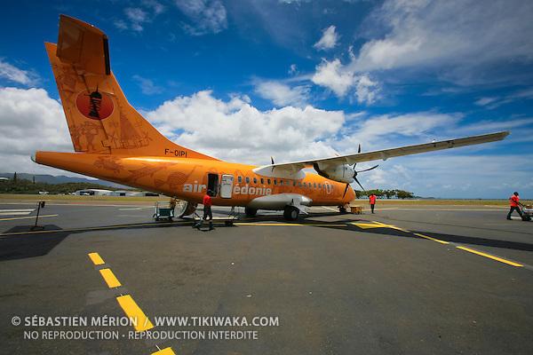Avion ATR 42 d'Air Calédonie, aérodrome de Magenta, Nouméa, Nouvelle-Calédonie