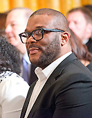 Tyler Perry attend the ceremony where United States President Barack Obama is to present the Presidential Medal of Freedom during a ceremony in the East Room of the White House in Washington, DC on Tuesday, November 22, 2016.  The Presidential Medal of Freedom is the Nation's highest civilian honor.<br /> Credit: Ron Sachs / CNP