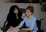 "In the Lawyer Office Mandy Bruno ""Danielle Kelly"" with Lisa for makeup/hair - ""Rock Story"" (rock n' roll mystery ensues and unleases band rise to national fame) - screen play by Guiding Light's Robert Bogue and Mandy Bruno. Rock Story which was shot almost all in Orange County has just finished filming in late January. It will be the feature film in the 2014 Hoboken International Film Festival on May 30 (with the festival continuing through June 5) at the Paramount Theatre in Middletown, New York. (Photo by Sue Coflin/Max Photos)"