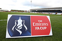 Emirates FA Cup signage during Cambridge United vs Sutton United , Emirates FA Cup Football at the Cambs Glass Stadium on 5th November 2017