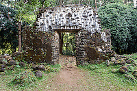 The King Kamehameha III Summer Palace (or Kaniakapupu Ruins), Nu'uanu Valley, O'ahu.