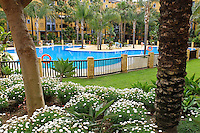 Swimming pool, apartments, Los Jazmines, San Pedro de Alcantara, Marbella, Spain, Espana, April, 2016, 201604192451<br />