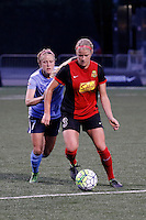 Rochester, NY - Saturday May 21, 2016: Western New York Flash forward Makenzy Doniak (3) and Sky Blue FC midfielder Nikki Stanton (7). The Western New York Flash defeated Sky Blue FC 5-2 during a regular season National Women's Soccer League (NWSL) match at Sahlen's Stadium.