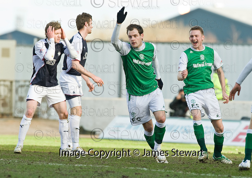 27/03/2010   Copyright  Pic : James Stewart.sct_jspa11_falkirk_v_hibernian  .::  ANTHONY STOKES CELEBRATES AFTER HE SCORES THE SECOND ::  .James Stewart Photography 19 Carronlea Drive, Falkirk. FK2 8DN      Vat Reg No. 607 6932 25.Telephone      : +44 (0)1324 570291 .Mobile              : +44 (0)7721 416997.E-mail  :  jim@jspa.co.uk.If you require further information then contact Jim Stewart on any of the numbers above.........