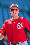 22 August 2015: Washington Nationals pitcher Jordan Zimmermann awaits his turn in the batting cage prior to a game against the Milwaukee Brewers at Nationals Park in Washington, DC. The Nationals defeated the Brewers 6-1 in the second game of their 3-game weekend series. Mandatory Credit: Ed Wolfstein Photo *** RAW (NEF) Image File Available ***