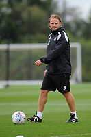 Swansea City's Assistant coach Bjorn Hamberg during the Swansea City Training Session at The Fairwood Training Ground, Wales, UK. Tuesday 14th August 2018