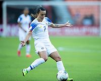 HOUSTON, TX - JANUARY 31: Melissa Herrera #7 of Costa Rica during a game between Haiti and Costa Rica at BBVA Stadium on January 31, 2020 in Houston, Texas.
