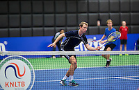 Rotterdam,Netherlands, December 15, 2015,  Topsport Centrum, Lotto NK Tennis,  Doubles, Kevin Boelhouwer/Stefan de Jong (R)<br /> Photo: Tennisimages/Henk Koster