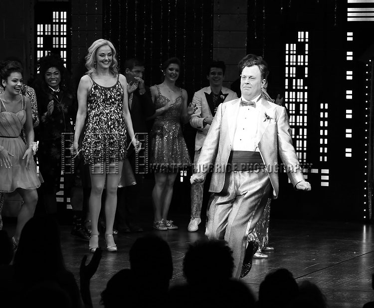 """Brooks Ashmanskas during the Broadway Opening Night Curtain Call of """"The Prom"""" at The Longacre Theatre on November 15, 2018 in New York City."""
