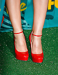 UNIVERSAL CITY, CA. - August 09: Actress Leighton Meester's shoes at the press room during the Teen Choice Awards 2009 held at the Gibson Amphitheatre on August 9, 2009 in Universal City, California.