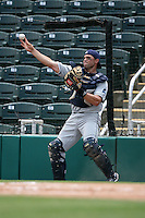April 13, 2009:  Catcher Nevin Ashley of the Charlotte Stone Crabs, Florida State League Class-A affiliate of the Tampa Bay Rays, during a game at Hammond Stadium in Fort Myers, FL.  Photo by:  Mike Janes/Four Seam Images