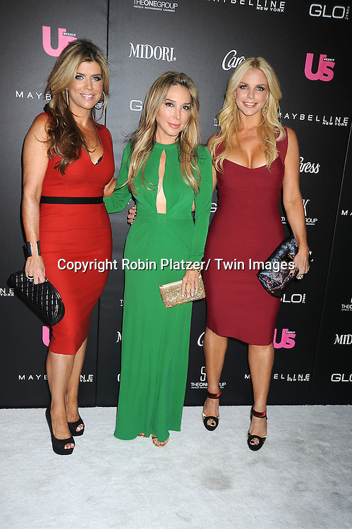 Ana Quincoce, Marysol Patton and Alexia Echevarria of The Real Housewives of Miami attends the party given by US Weekly which honors the  25 Most Stylish New Yorkers of 2012 on September 12, 2012 at STK Midtown in New York City.