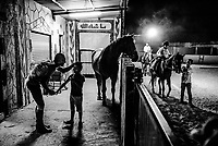 Evening horse-riding lessons at the Al-Badiya al-Maqdisi Club on June 12, 2016 in the neighborhood of Tur, East Jerusalem. <br /> Photo Daniel Berehulak for the New York Times