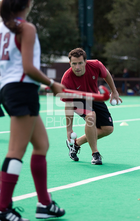 STANFORD, CA - November3, 2011: Assistant Coach Patrick Cota before the Stanford vs. Appalachian State opener of  the  NorPac Championship at the Varsity Turf on the Stanford campus Thursday afternoon.<br /> <br /> Stanford defeated Appalachian State 7-0.