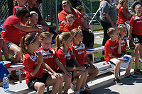Kansas City, MO - Saturday May 13, 2017:  Portland Thorns FC fans prior to a regular season National Women's Soccer League (NWSL) match between FC Kansas City and the Portland Thorns FC at Children's Mercy Victory Field.