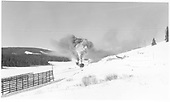 Two RGS engines, one pushing, crossing Lizard Head Pass in winter.<br /> RGS  Lizard Head, CO  Taken by Richardson, Robert W. - 11/19/1951