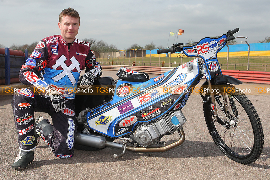 Stuart Robson of Lakeside Hammers - Lakeside Hammers Speedway Press & Practice Day at Arena Essex Raceway, Purfleet - 20/03/12 - MANDATORY CREDIT: Gavin Ellis/TGSPHOTO - Self billing applies where appropriate - 0845 094 6026 - contact@tgsphoto.co.uk - NO UNPAID USE.