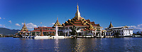 Asie/Birmanie/Myanmar/Plateau Shan/Ywathit: Lac Inle - Pagode de Nga Pha Kyaung